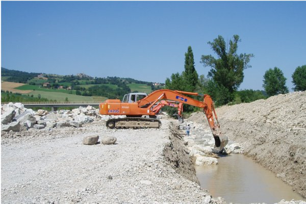 Pennabilli - Rimini – Italy<br>Flood defense works Rimini–San Sepolcro